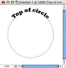 Wie man mit Photoshop im Kreis schreibt